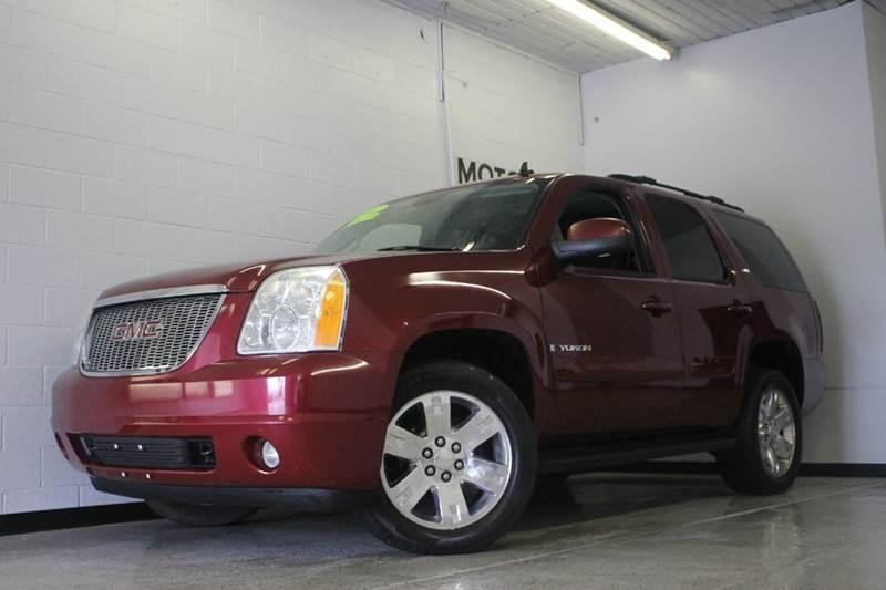 2007 GMC YUKON SLT 4DR SUV 4X4 W4SB burgundy leather moonroof third row seating53l v8 flex fuel