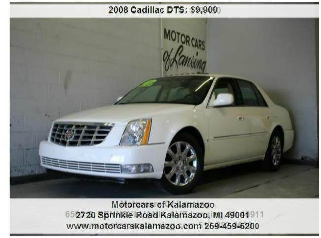 2008 CADILLAC DTS BASE 4DR SEDAN white moonroof full screen navigation loaded  3 month 4000 mi