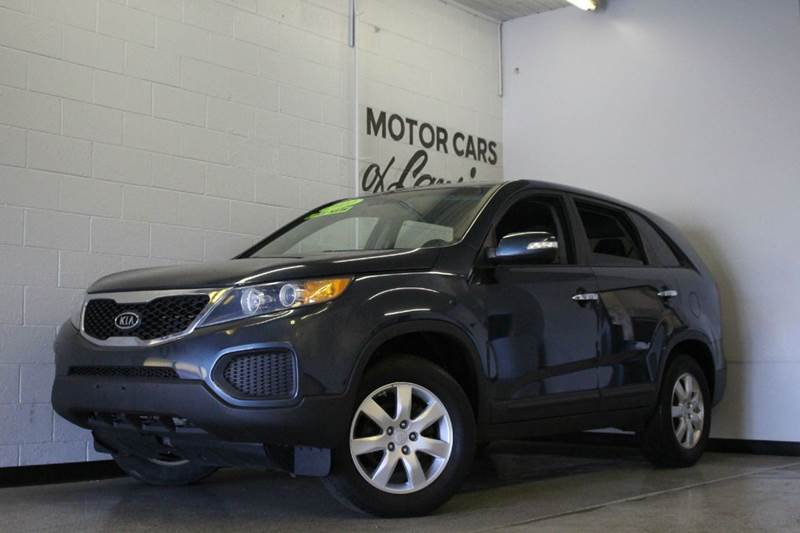 2011 KIA SORENTO BASE 4DR SUV blue 24l i4 fwd cloth low miles clean 2-stage unlocking abs -
