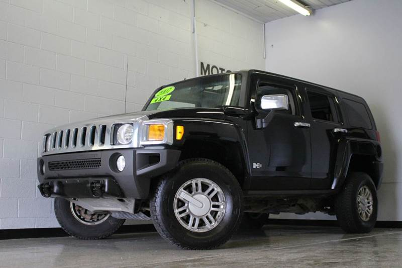 2007 HUMMER H3 BASE 4DR SUV 4WD black check out this interiortwo tone leather  2-stage unlocking