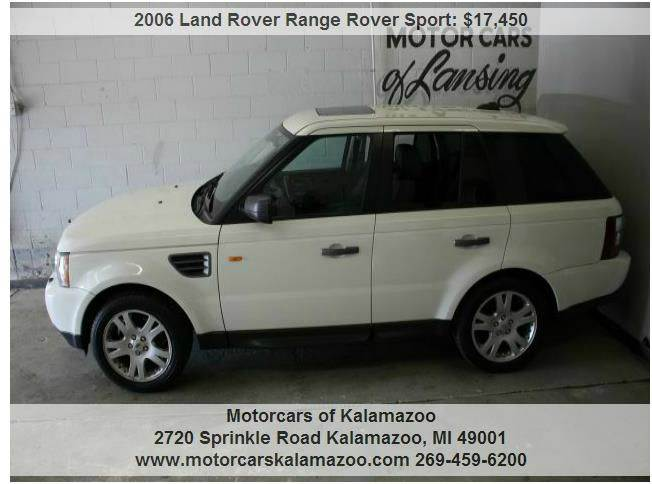 2006 LAND ROVER RANGE ROVER SPORT HSE 4DR SUV 4WD white the true dream car thw white rangerover