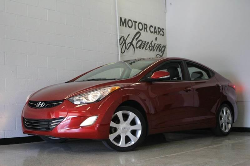 2013 HYUNDAI ELANTRA LIMITED 4DR SEDAN 6A red great on gas priced to sell must see all customer