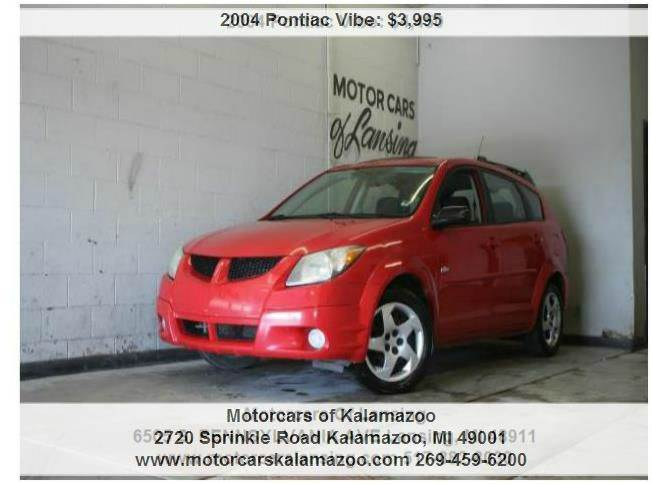 2004 PONTIAC VIBE BASE FWD 4DR WAGON red center console clock daytime running lights exterior