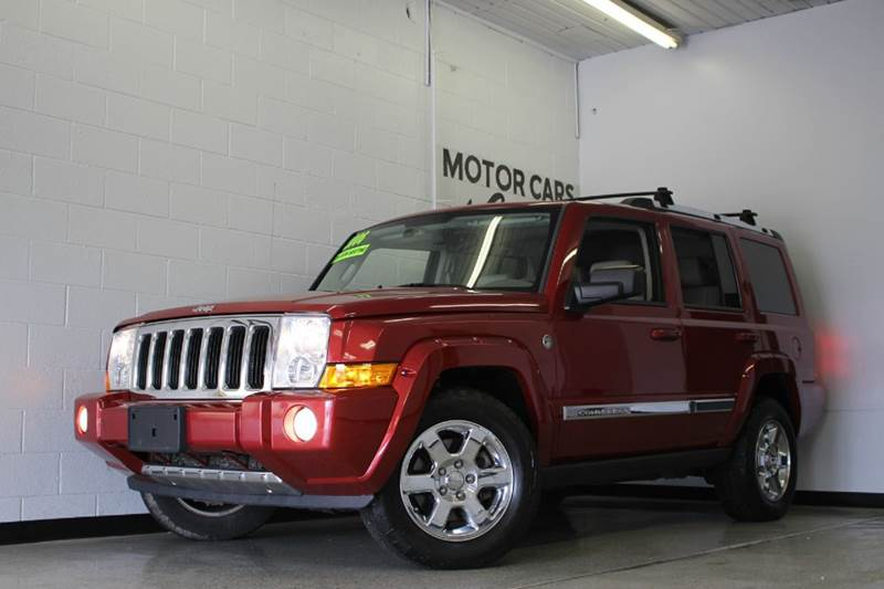 2006 JEEP COMMANDER LIMITED 4DR SUV 4WD red 57l v8 4wd 4wd type - full time abs - 4-wheel adj