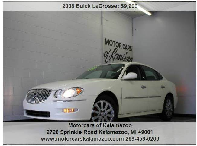 2008 BUICK LACROSSE CXL SEDAN white leather loaded moonroof clean 2-stage unlocking - remote abs