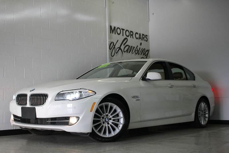 2012 BMW 5 SERIES 535I XDRIVE AWD 4DR SEDAN white 30l i6 turbo automatic 8 speed heated leather
