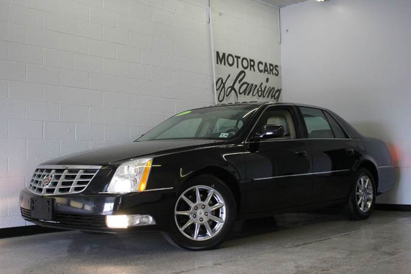 2011 CADILLAC DTS LUXURY COLLECTION 4DR SEDAN black 46l v8 leather moonroof rwd loaded 2-sta