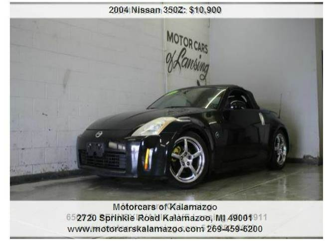 2004 NISSAN 350Z TOURING 2DR ROADSTER black black on blackruns and shows great 3 month 4000 m