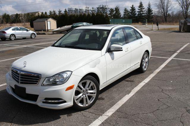 2012 MERCEDES-BENZ C-CLASS C300 SPORT 4MATIC AWD 4DR SEDAN arc white abs - 4-wheel active head r