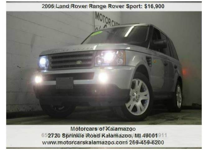 2006 LAND ROVER RANGE ROVER SPORT HSE 4DR SUV 4WD blue everyone is approved