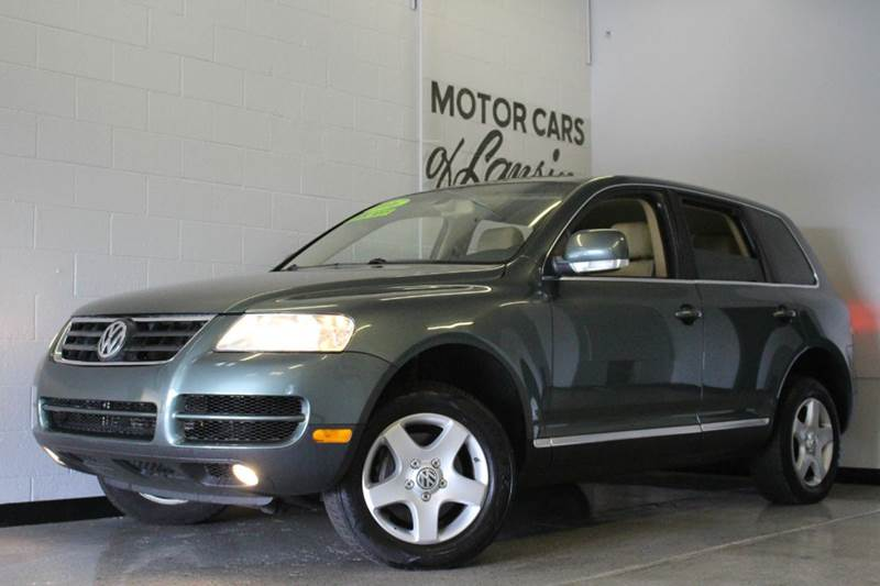 2006 VOLKSWAGEN TOUAREG V6 AWD 4DR SUV sage 32l v6 leather  moonroof clean awd abs - 4-whee