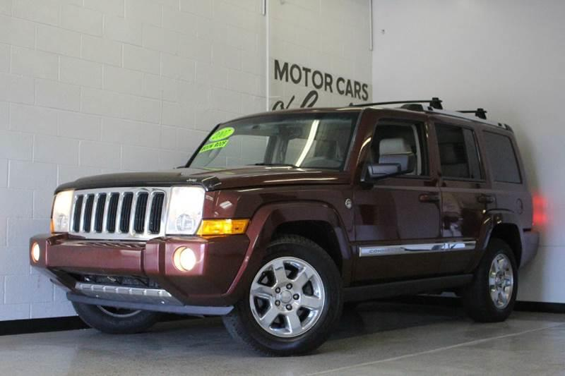 2007 JEEP COMMANDER LIMITED 4DR SUV 4WD maroon 47l v8 4x4 sunroof bluetooth connection dual z