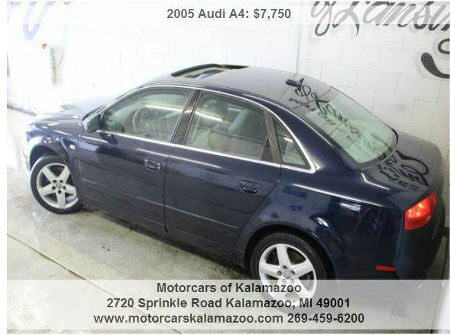 2005 AUDI A4 20T QUATTRO AWD NEW 4DR SEDAN blue great on gas priced to sell must see all custo
