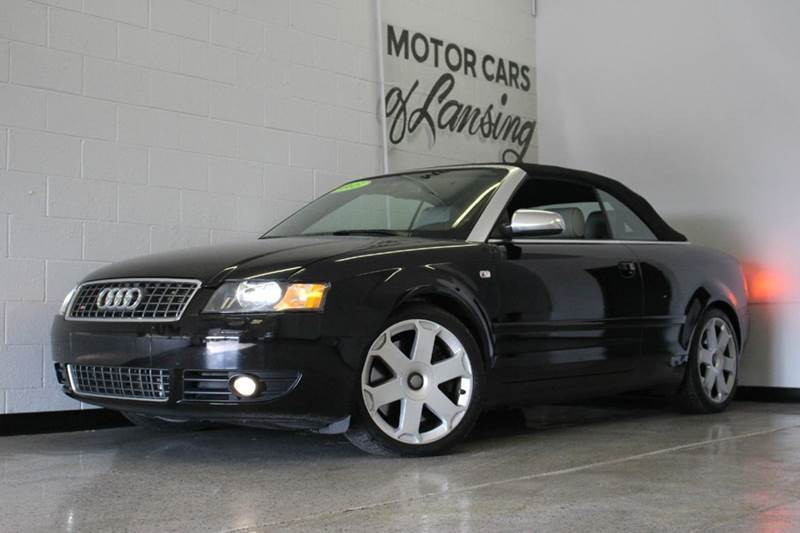 2005 AUDI S4 QUATTRO AWD 2DR CABRIOLET black convertible 42l v8 low miles abs - 4-wheel anti