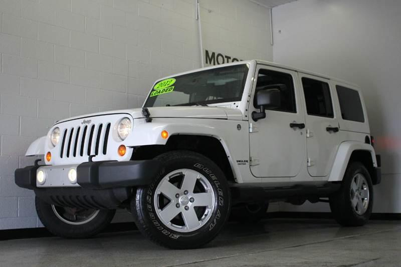 2012 JEEP WRANGLER UNLIMITED SAHARA 4X4 4DR SUV white leather loaded navigation  2-stage unlockin