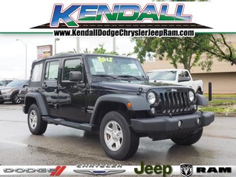 2015 Jeep Wrangler Unlimited for sale in Miami, FL