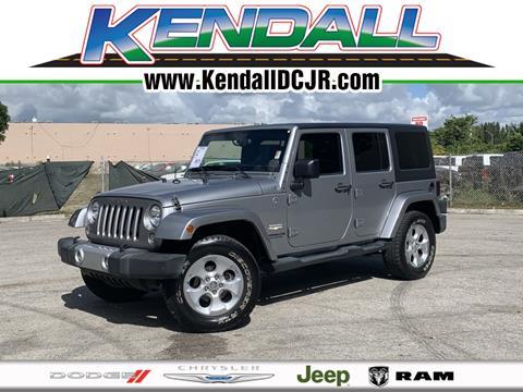 2014 Jeep Wrangler Unlimited for sale in Miami, FL
