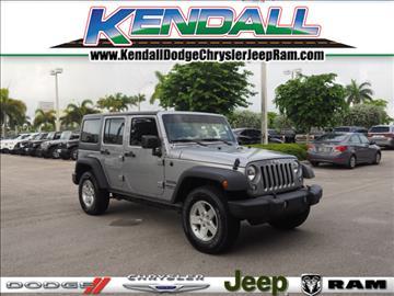 2016 Jeep Wrangler Unlimited for sale in Miami, FL