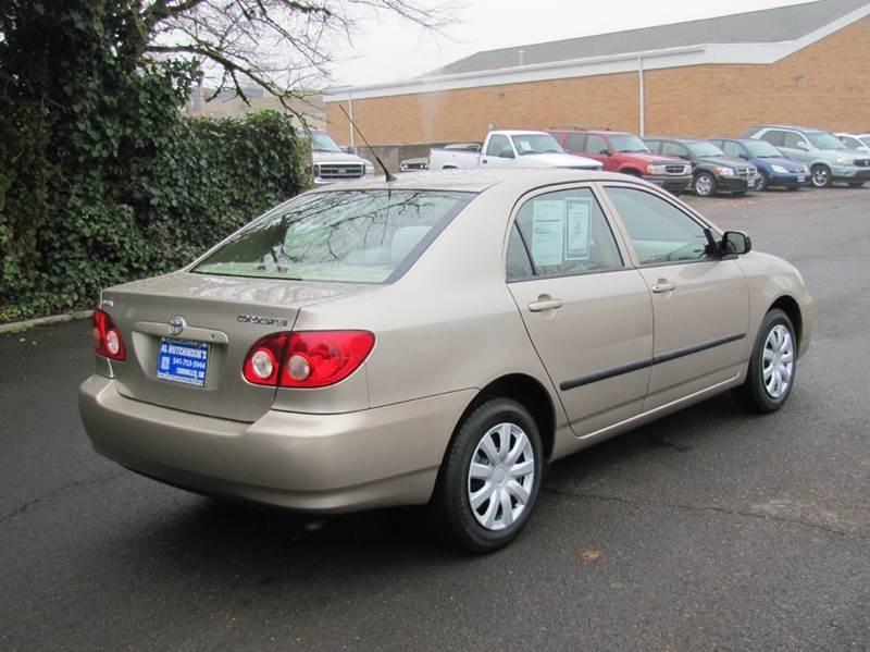 2006 toyota corolla ce 4dr sedan w automatic in corvallis or al hutchinson auto center. Black Bedroom Furniture Sets. Home Design Ideas