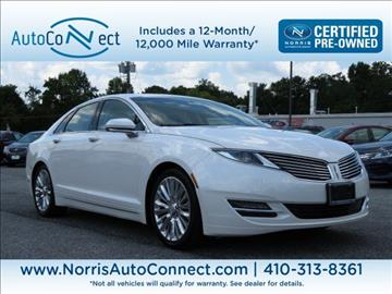 2016 Lincoln MKZ for sale in Baltimore, MD