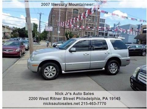 2007 Mercury Mountaineer for sale in Philadelphia, PA