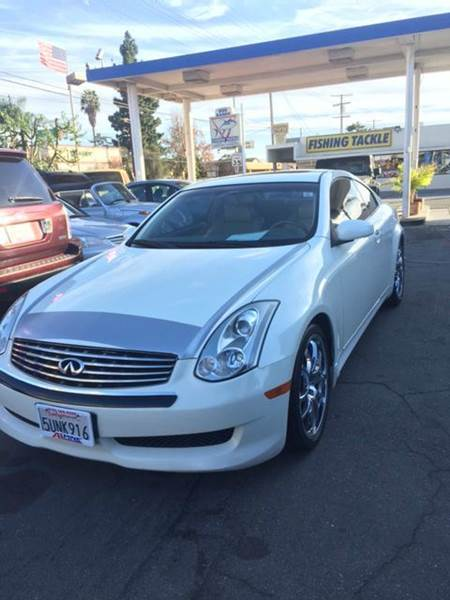 2006 INFINITI G35 BASE 2DR COUPE WAUTOMATIC white abs - 4-wheel active head restraints - dual f