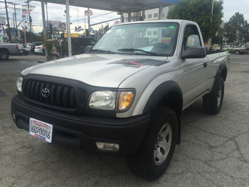 2002 TOYOTA TACOMA PRERUNNER 2DR STANDARD CAB 2WD S silver axle ratio - 410 front airbags - dua