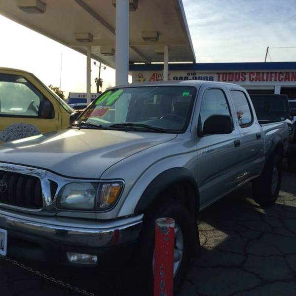 2004 TOYOTA TACOMA PRERUNNER V6 4DR DOUBLE CAB RWD silver abs - 4-wheel axle ratio - 391 casse