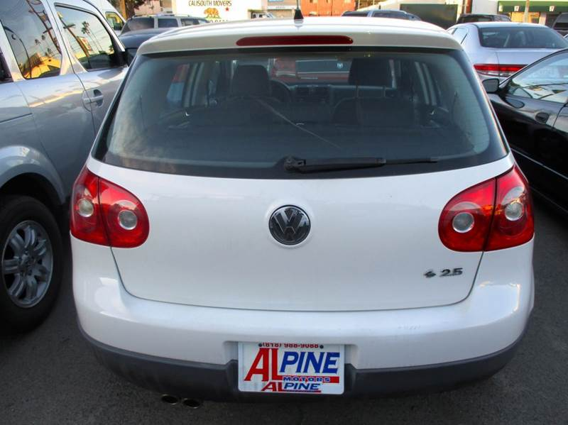 2007 VOLKSWAGEN RABBIT PZEV 4DR HATCHBACK 25L I5 6A white abs - 4-wheel air filtration anten