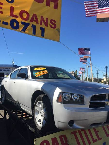 2007 DODGE CHARGER BASE 4DR SEDAN gray 2-stage unlocking - remote airbag deactivation - occupant