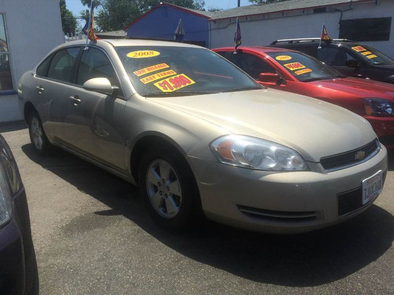 2008 CHEVROLET IMPALA LT 4DR SEDAN gold 2-stage unlocking - remote air filtration airbag deacti