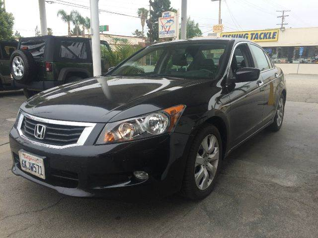 2009 HONDA ACCORD EX-L V6 WNAVI 4DR SEDAN 5A WNA black abs - 4-wheel active head restraints -