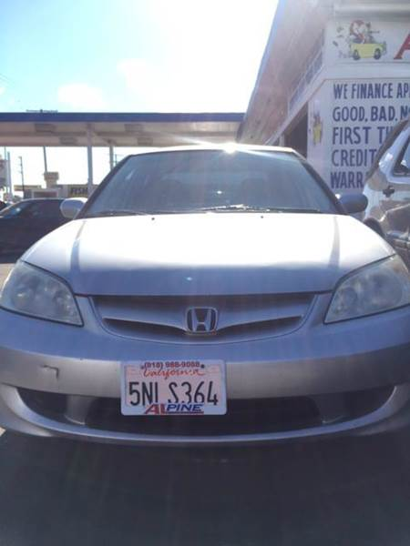 2005 HONDA CIVIC EX 4DR SEDAN silver abs - 4-wheel center console - front console with storage