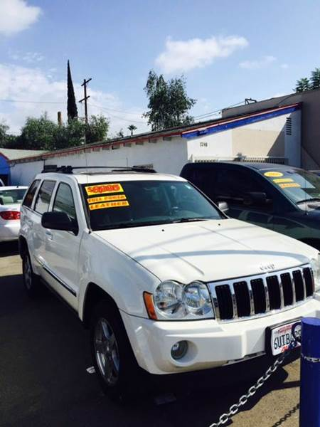 2005 JEEP GRAND CHEROKEE LIMITED 4DR SUV white abs - 4-wheel adjustable pedals - power anti-the