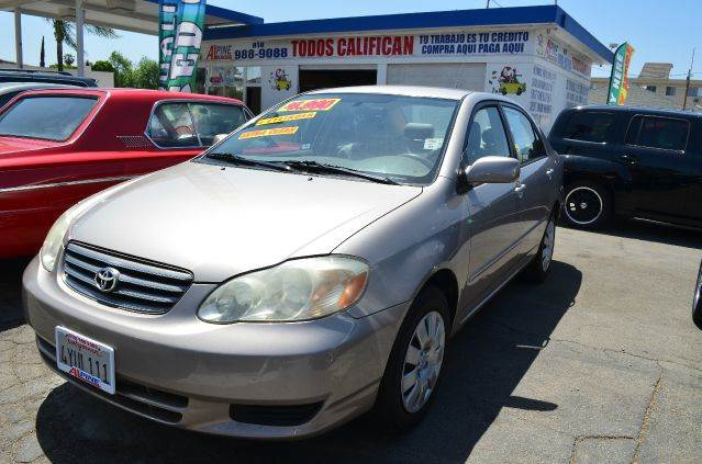 2003 TOYOTA COROLLA LE 4DR SEDAN gold center console clock daytime running lights exterior ent