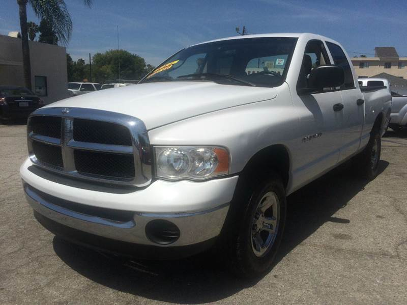 2005 DODGE RAM PICKUP 1500 LARAMIE 4DR 4WD QUAD CAB SB white abs - 4-wheel adjustable pedals - p