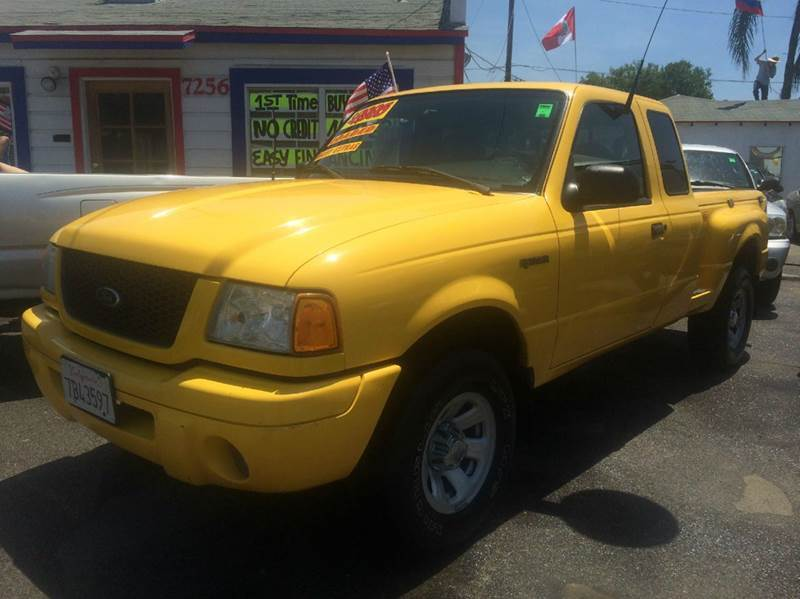 2003 FORD RANGER XLT 2DR SUPERCAB APPEARANCE RWD yellow abs - 4-wheel axle ratio - 373 bumper
