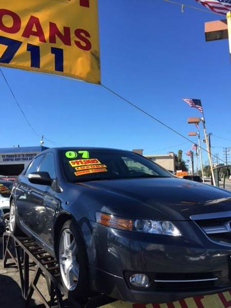 2007 ACURA TL BASE WNAVI 4DR SEDAN WNAVIGATI dark gray 2-stage unlocking doors abs - 4-wheel a
