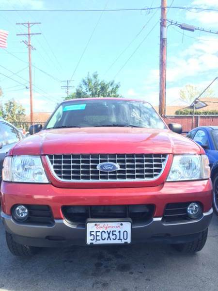 2003 FORD EXPLORER XLT 4DR SUV red abs - 4-wheel anti-theft system - alarm axle ratio - 355 c