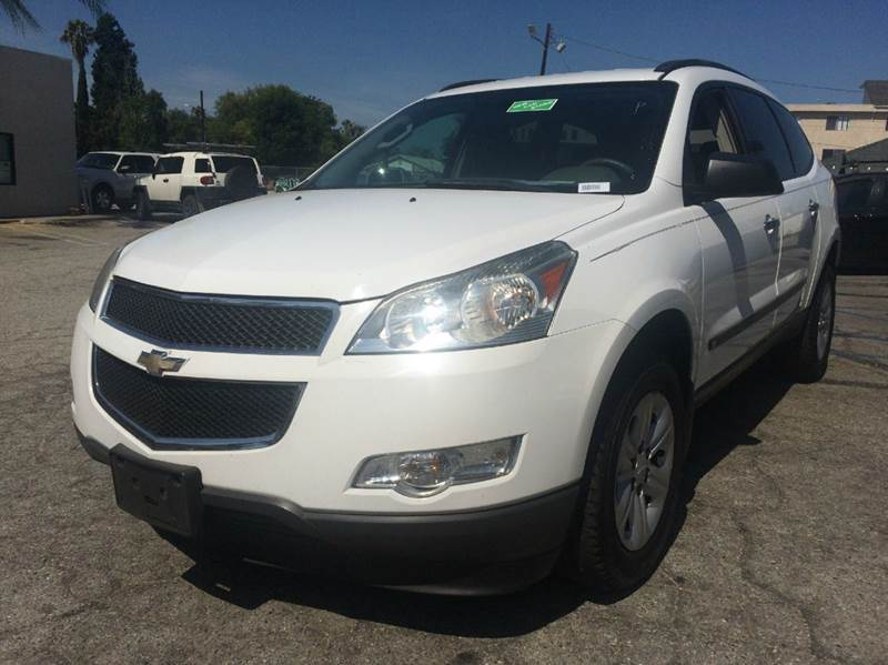 2009 CHEVROLET TRAVERSE LS 4DR SUV white 2-stage unlocking abs - 4-wheel airbag deactivation -