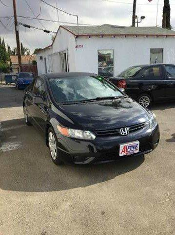 2007 HONDA CIVIC LX 2DR COUPE 18L I4 5M black 2-stage unlocking - remote abs - 4-wheel air f