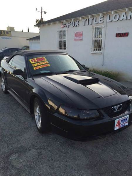 2000 FORD MUSTANG GT 2DR CONVERTIBLE black abs - 4-wheel cassette center console exterior entr