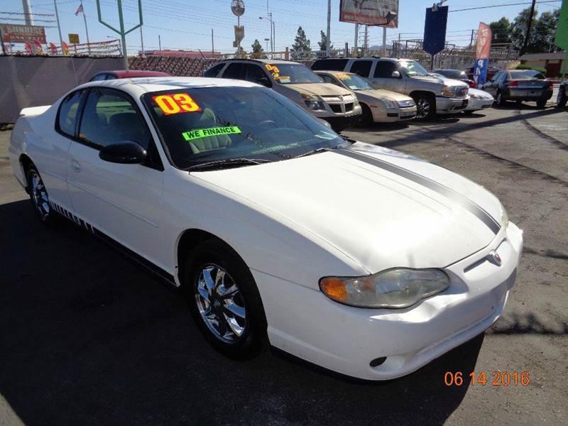 Used Cars in Las Vegas 2003 Chevrolet Monte Carlo