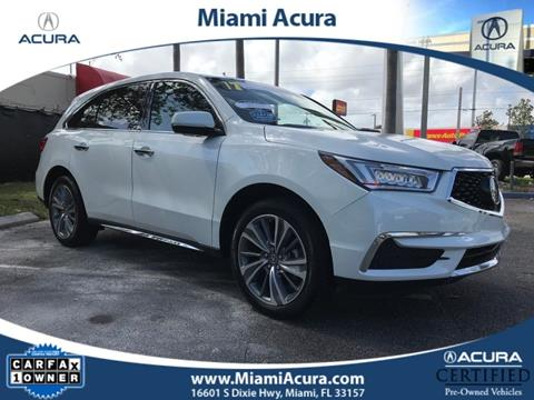 2017 Acura MDX for sale in Miami FL