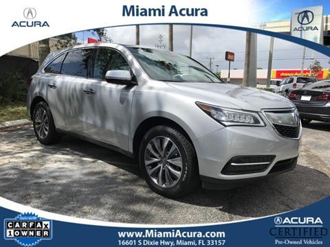2015 Acura MDX for sale in Miami FL