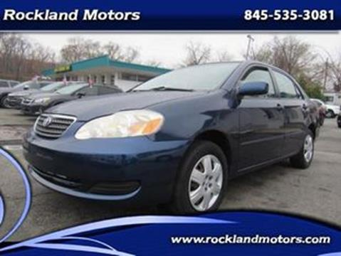 2007 Toyota Corolla LE for sale at Rockland Motors in West Nyack NY