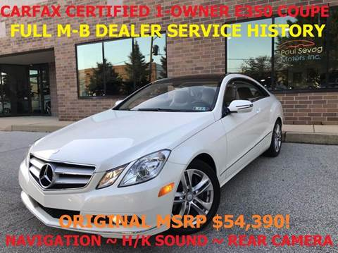 2010 Mercedes-Benz E-Class for sale in West Chester, PA