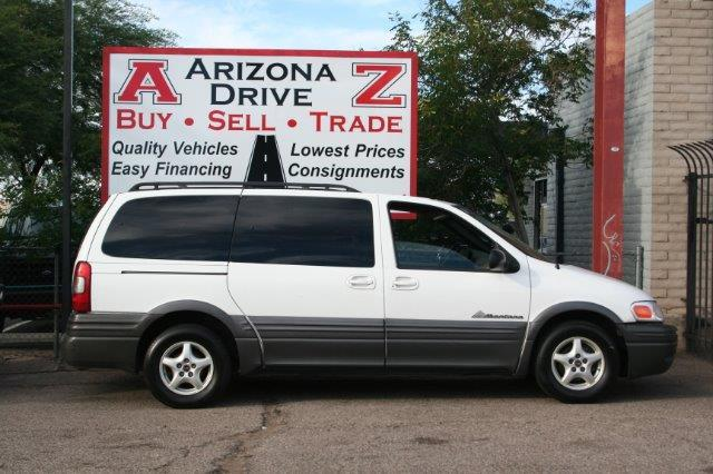 2003 PONTIAC MONTANA BASE FWD 4DR EXT MINIVAN white dual air cinditioning 7 passenger family van 6
