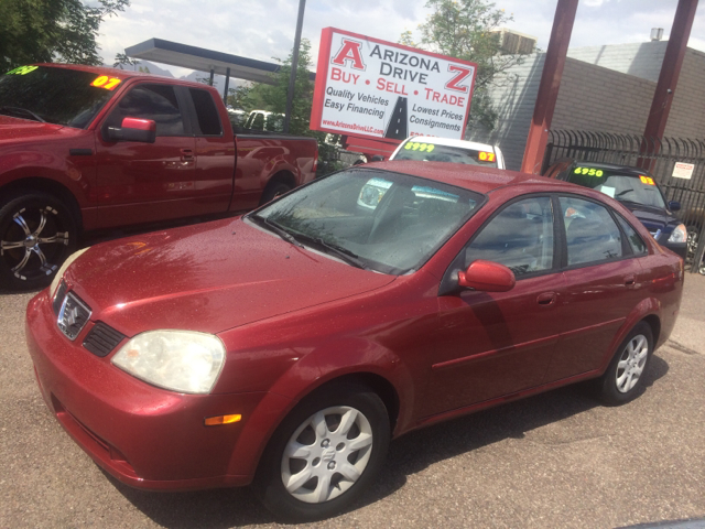 2004 SUZUKI FORENZA LX 4DR SEDAN red alloy wheels anti-theft system - alarm center console cloc