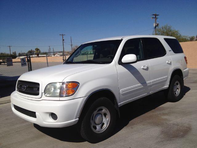 2002 TOYOTA SEQUOIA SR5 2WD white the vehicle car fax is clean but the title is restore salvage be